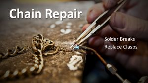 Chain being repaired